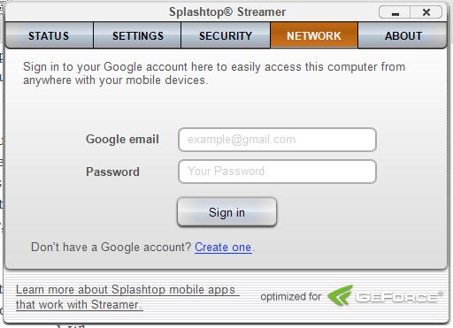 Splashtop Gmail